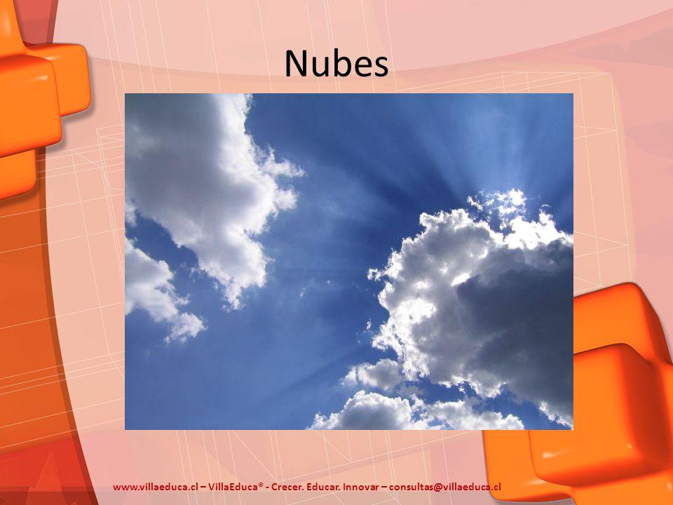 Nubes www.villaeduca.cl – VillaEduca® - Crecer. Educar. Innovar – consultas@villaeduca.cl