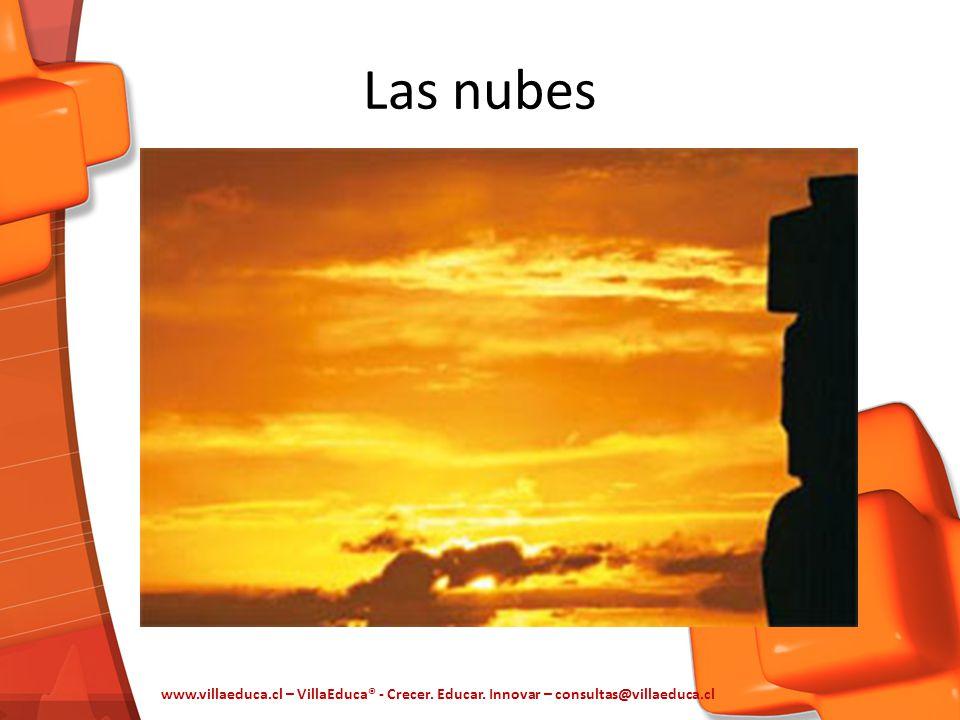 Las nubes www.villaeduca.cl – VillaEduca® - Crecer. Educar. Innovar – consultas@villaeduca.cl