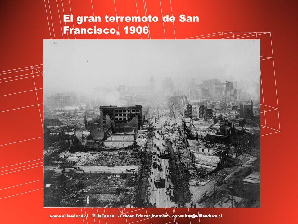 El gran terremoto de San Francisco, 1906