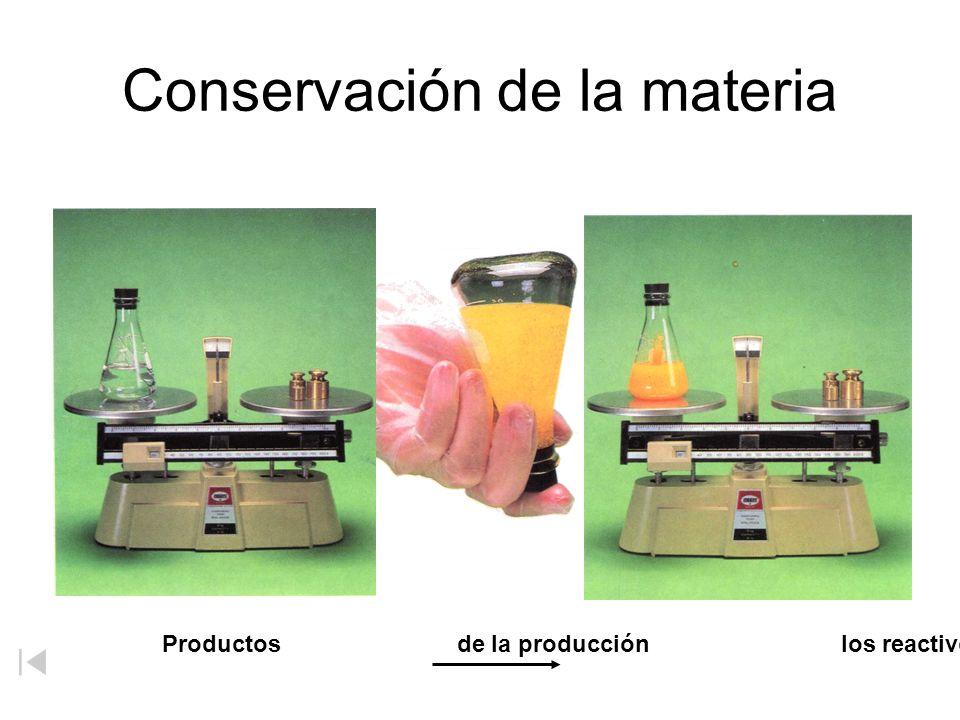 Conservación de la materia