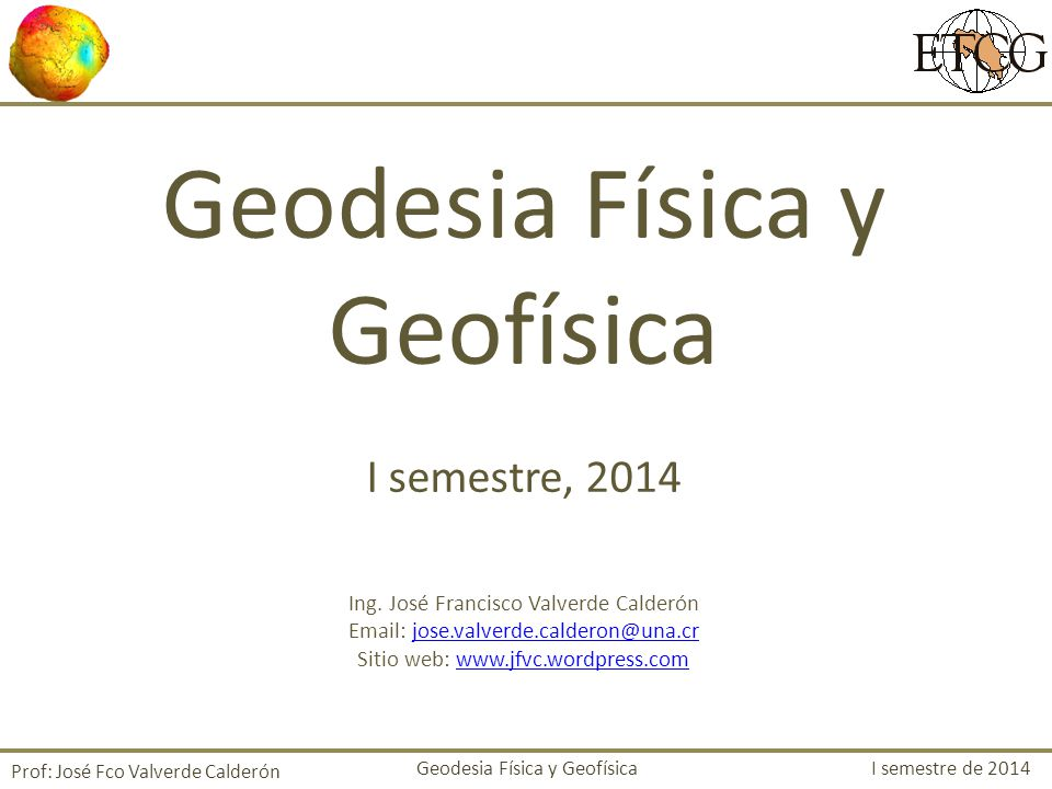Geodesia Física y Geofísica