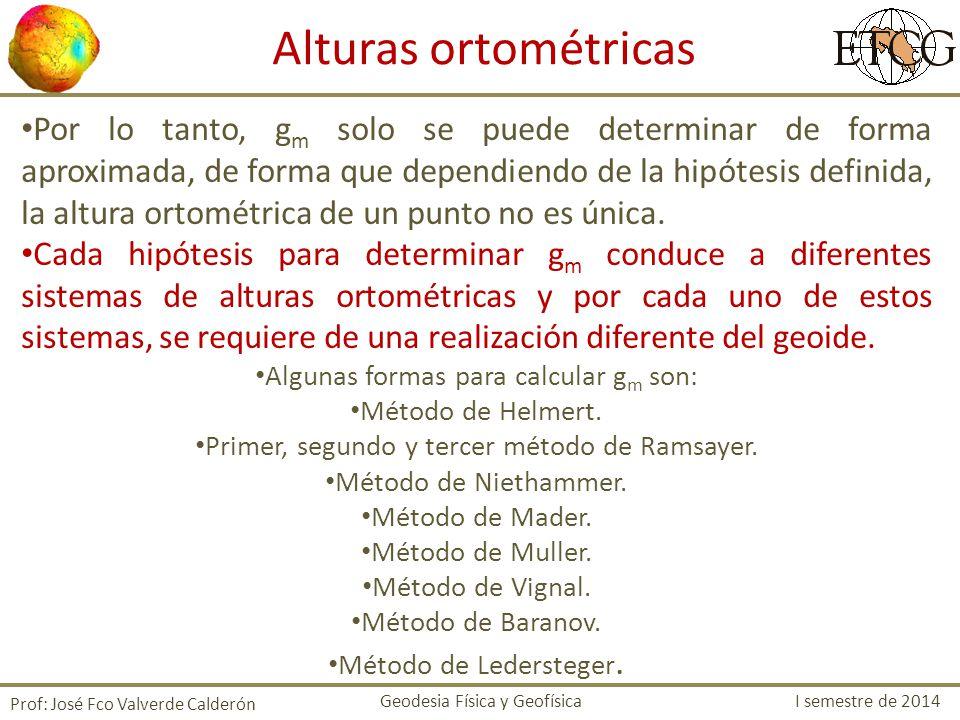 Alturas ortométricas