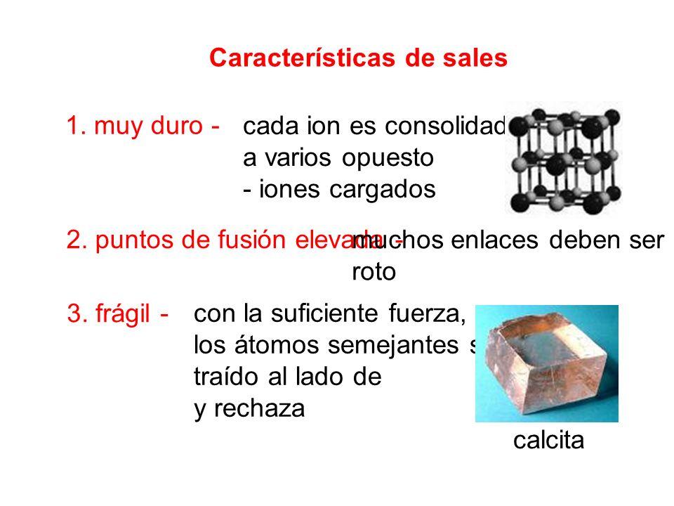 Características de sales