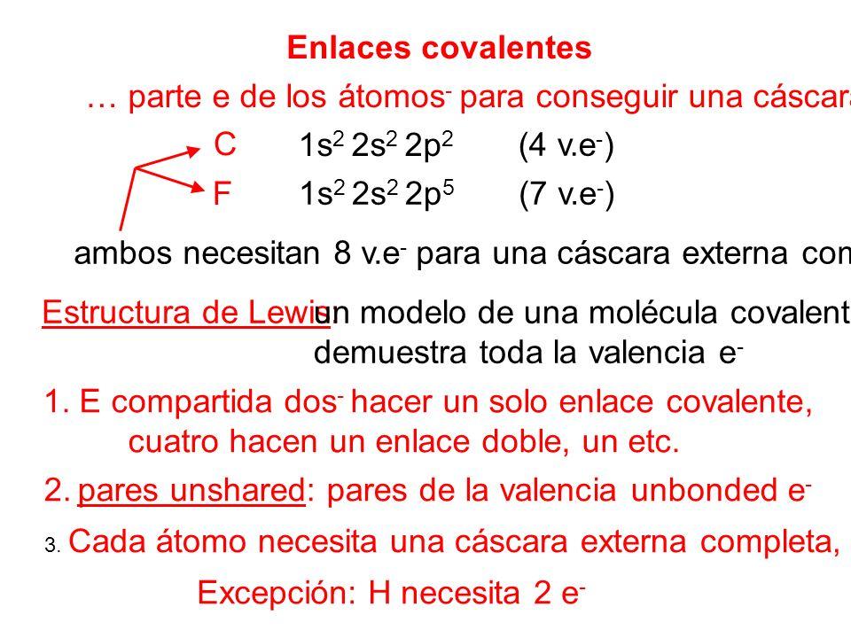 un modelo de una molécula covalente eso demuestra toda la valencia e-