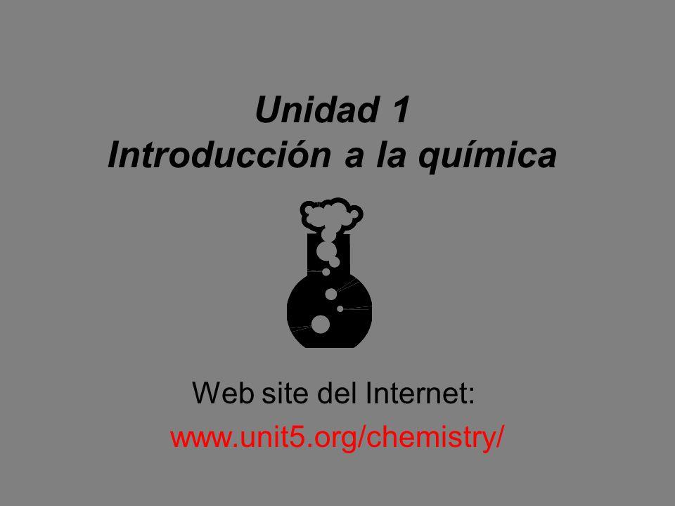 Unidad 1 Introducción a la química
