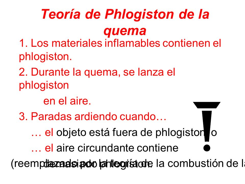 Teoría de Phlogiston de la quema