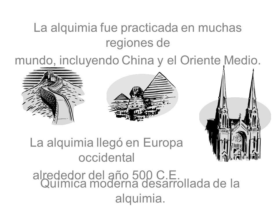 La alquimia fue practicada en muchas regiones de