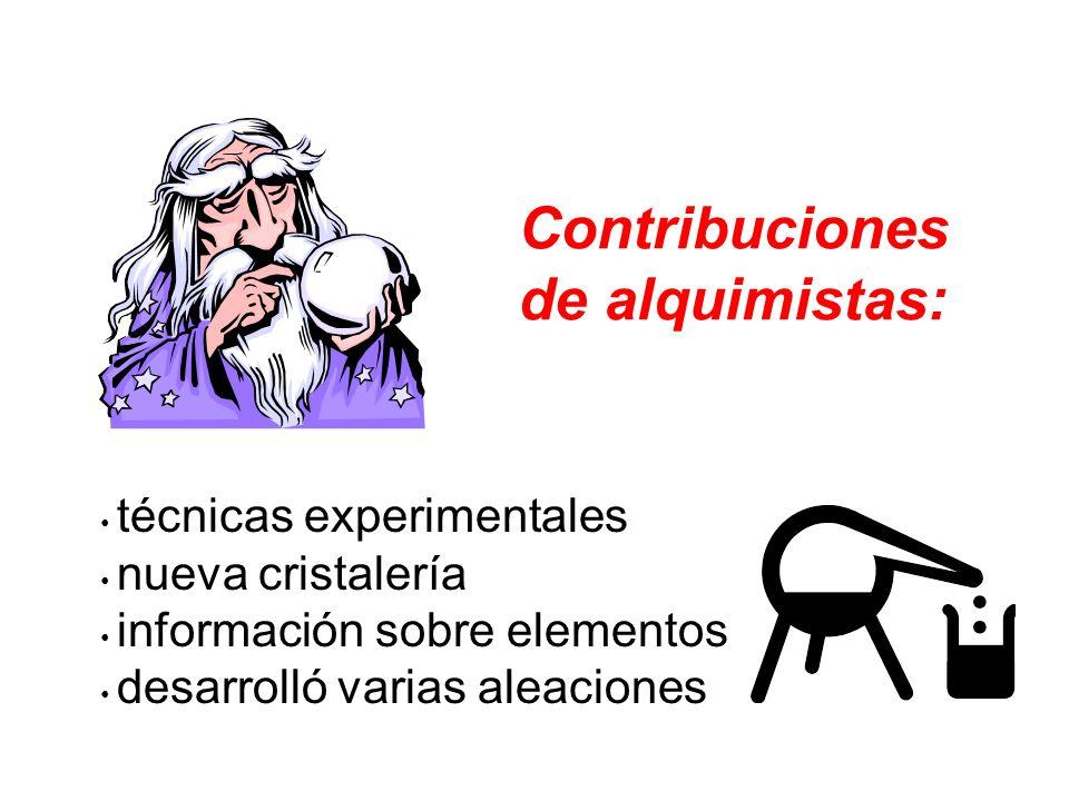 Contribuciones de alquimistas: técnicas experimentales