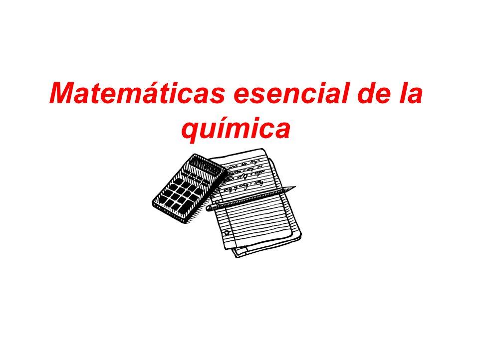 Matemáticas esencial de la química