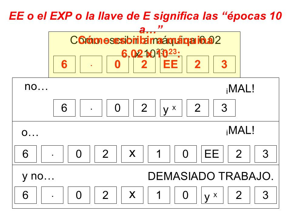 x x EE o el EXP o la llave de E significa las épocas 10 a…