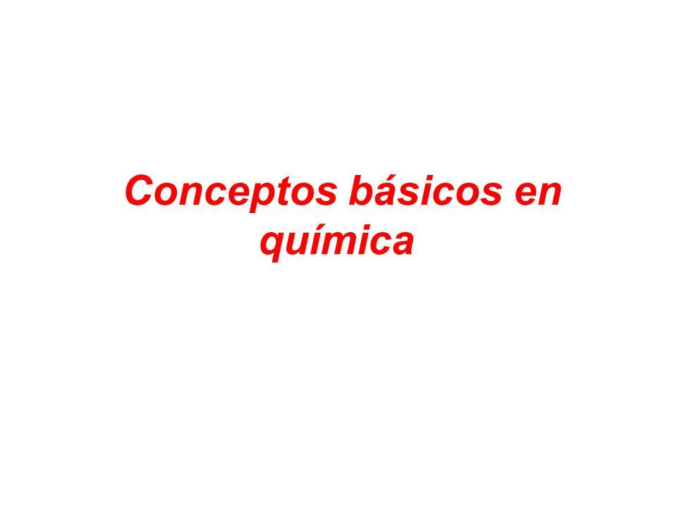 Conceptos básicos en química