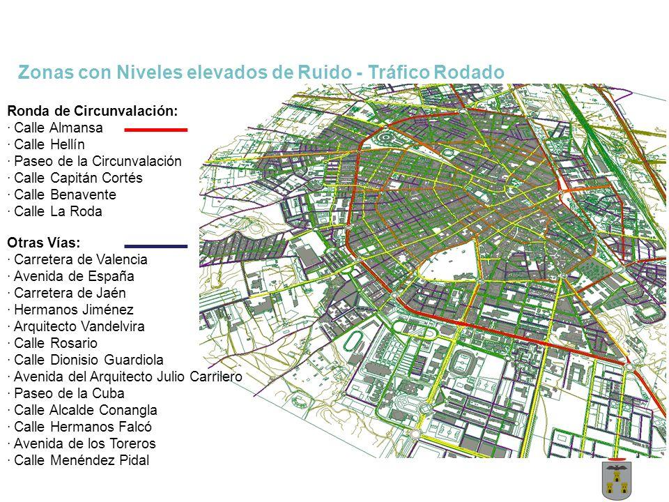 Zonas con Niveles elevados de Ruido - Tráfico Rodado