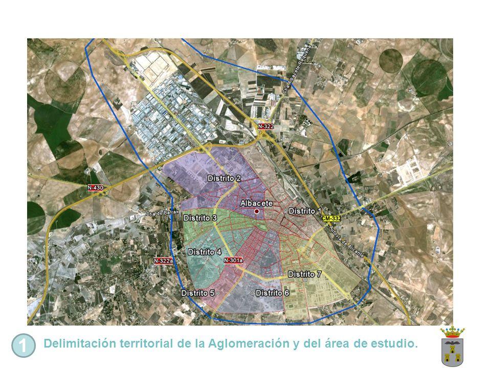 1 Delimitación territorial de la Aglomeración y del área de estudio.
