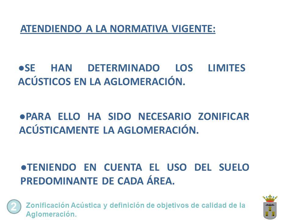 ATENDIENDO A LA NORMATIVA VIGENTE: