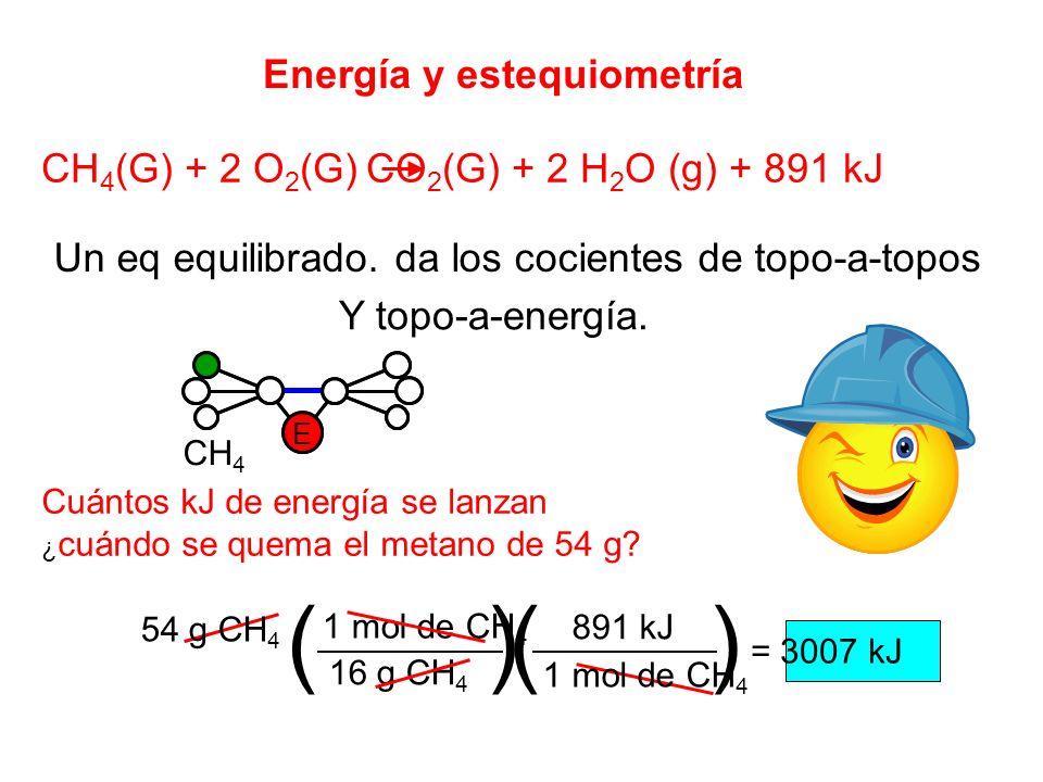 ( ) ( ) Energía y estequiometría
