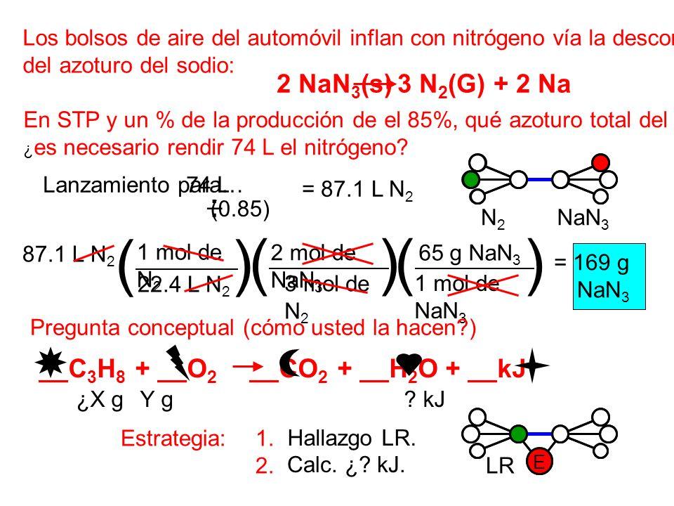 ( ) ( ) ( ) 2 NaN3(s) 3 N2(G) + 2 Na _ .