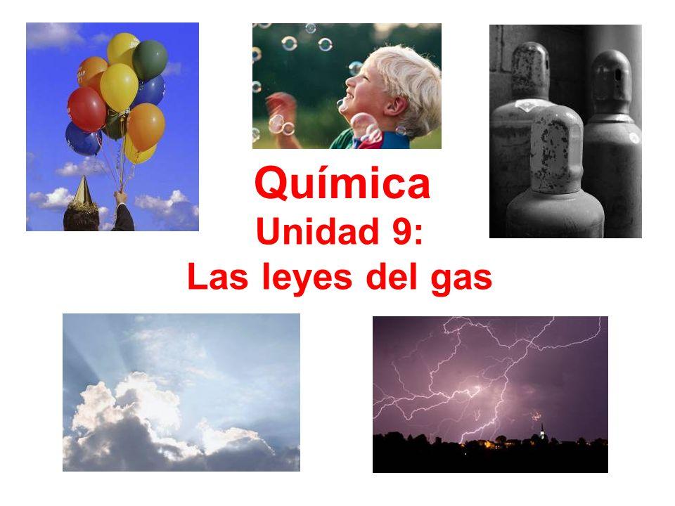 Química Unidad 9: Las leyes del gas