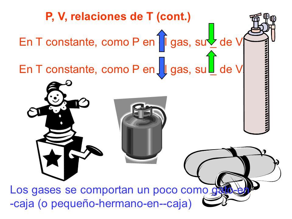 P, V, relaciones de T (cont.)