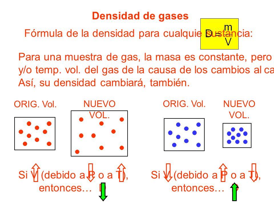 Fórmula de la densidad para cualquie sustancia: