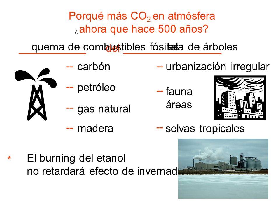 Porqué más CO2 en atmósfera