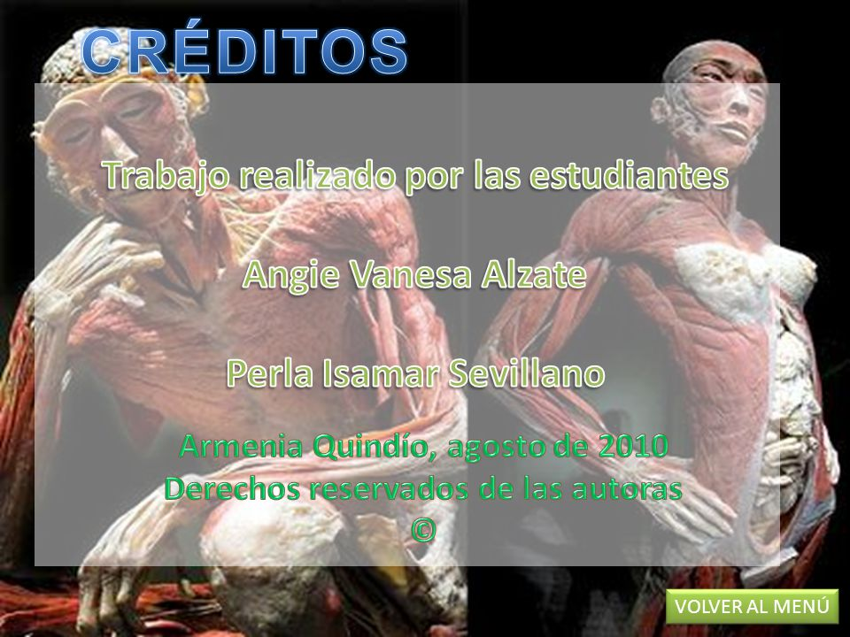 CRÉDITOS Trabajo realizado por las estudiantes Angie Vanesa Alzate