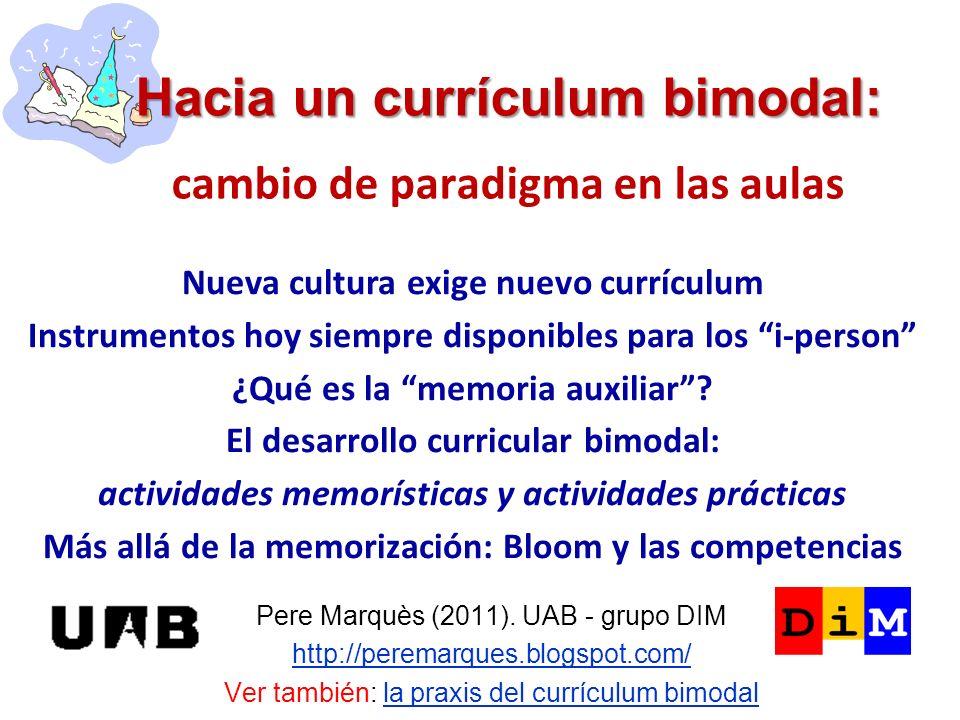 Hacia un currículum bimodal: cambio de paradigma en las aulas