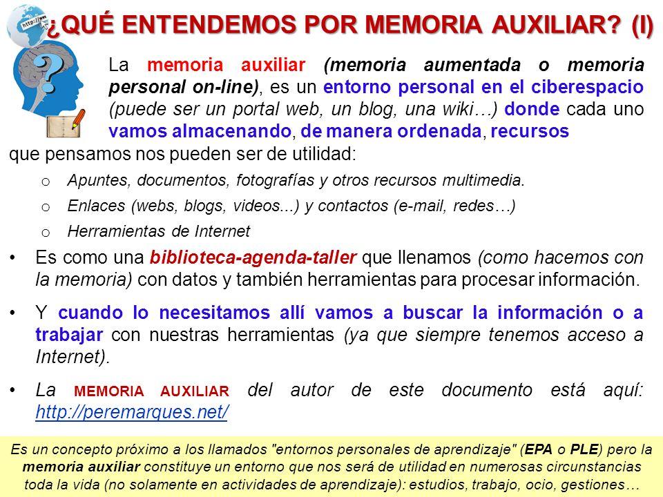 ¿QUÉ ENTENDEMOS POR MEMORIA AUXILIAR (I)