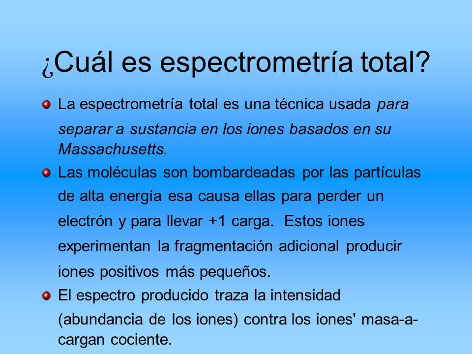 ¿Cuál es espectrometría total