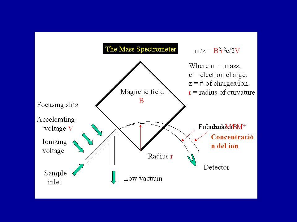 Concentración del ion