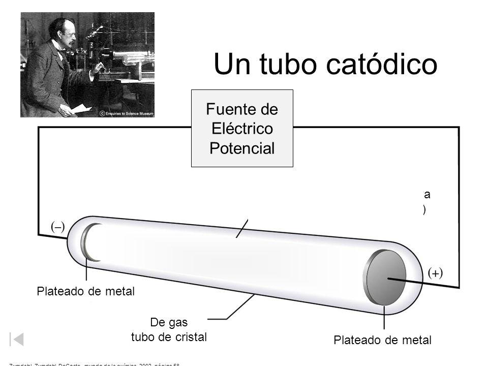 Un tubo catódico Fuente de Eléctrico Potencial