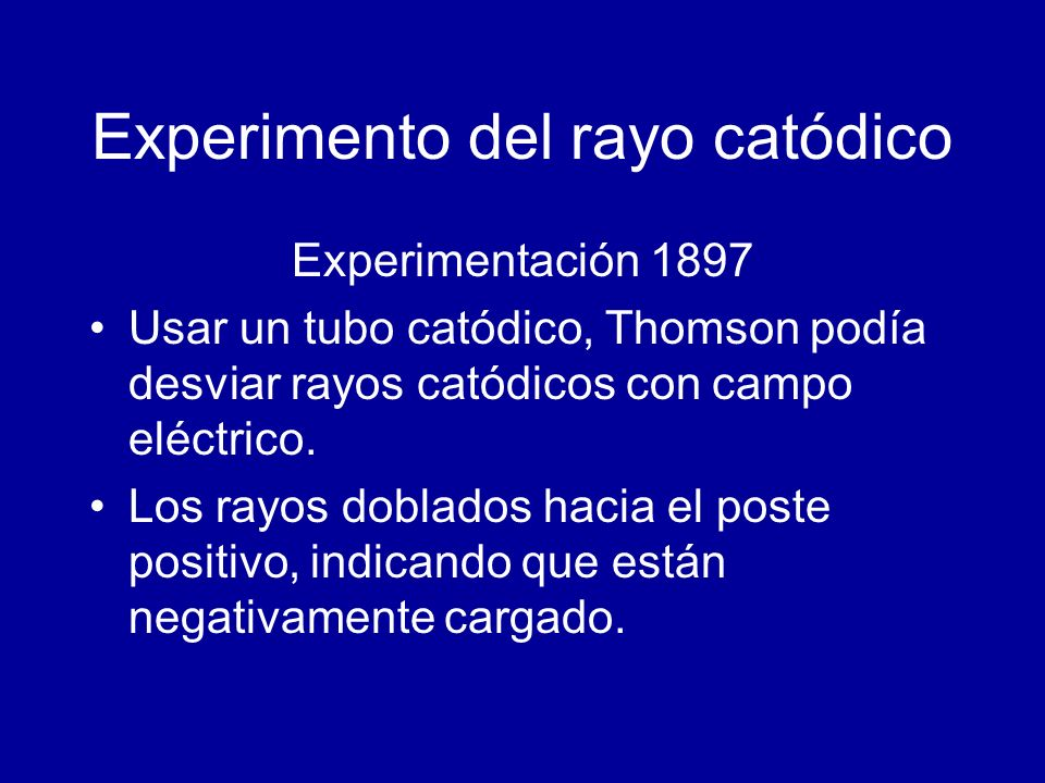 Experimento del rayo catódico