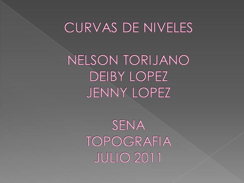 CURVAS DE NIVELES NELSON TORIJANO DEIBY LOPEZ JENNY LOPEZ SENA TOPOGRAFIA JULIO 2011