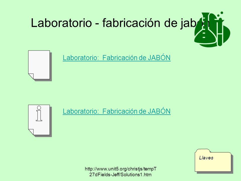 Laboratorio - fabricación de jabón