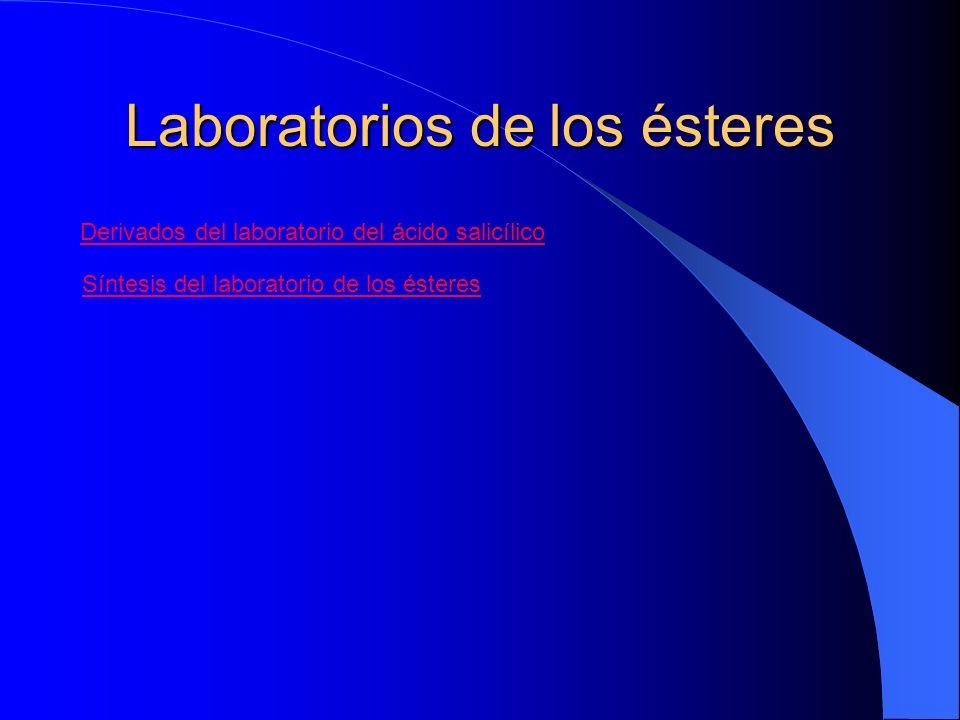Laboratorios de los ésteres