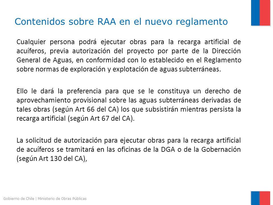 Contenidos sobre RAA en el nuevo reglamento