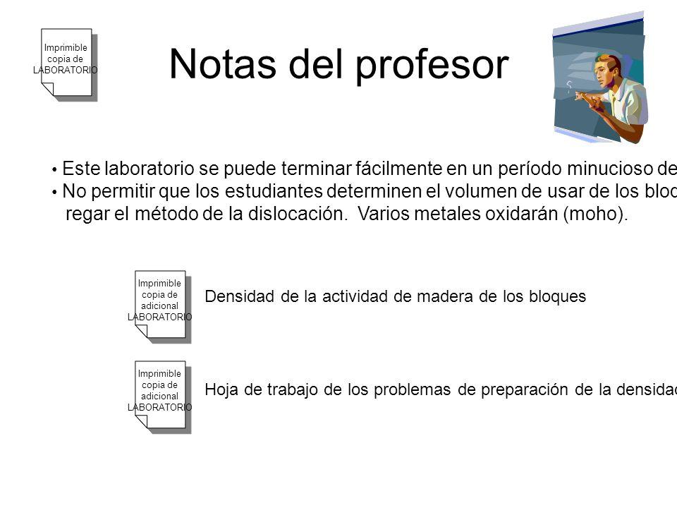 Notas del profesor Imprimible. copia de. LABORATORIO. Este laboratorio se puede terminar fácilmente en un período minucioso de la clase 50.