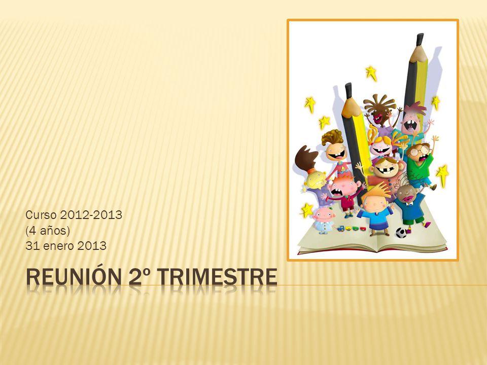 Curso 2012-2013 (4 años) 31 enero 2013 REUNIÓN 2º TRIMESTRE