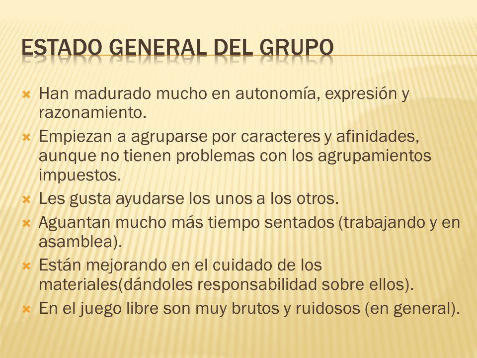 Estado general del grupo