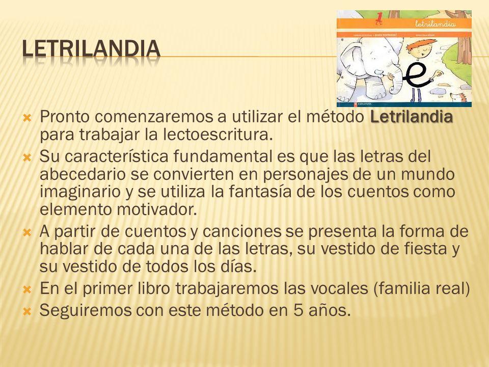 letrilandia Pronto comenzaremos a utilizar el método Letrilandia para trabajar la lectoescritura.