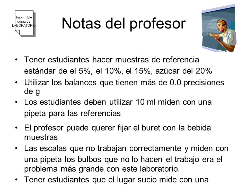 Notas del profesor Imprimible. copia de. LABORATORIO.