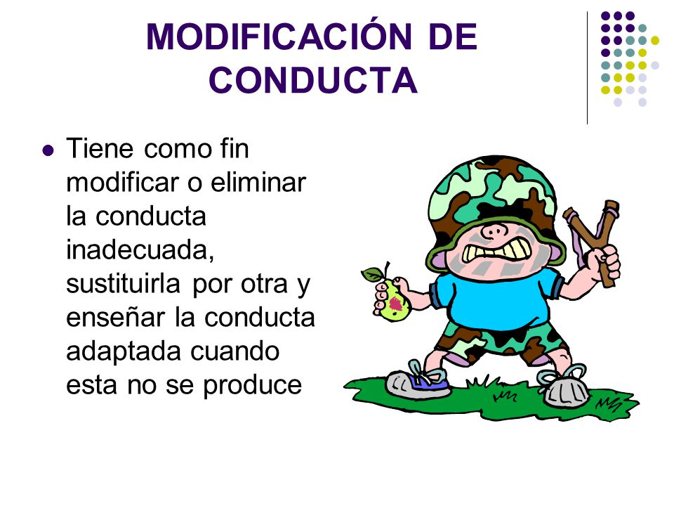 MODIFICACIÓN DE CONDUCTA