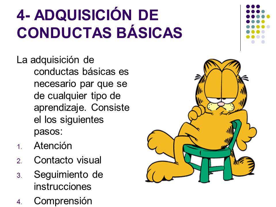 4- ADQUISICIÓN DE CONDUCTAS BÁSICAS