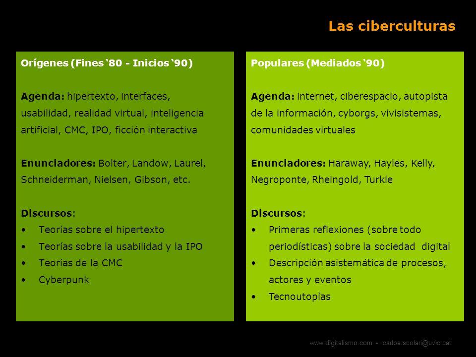 Las ciberculturas Orígenes (Fines '80 - Inicios '90)