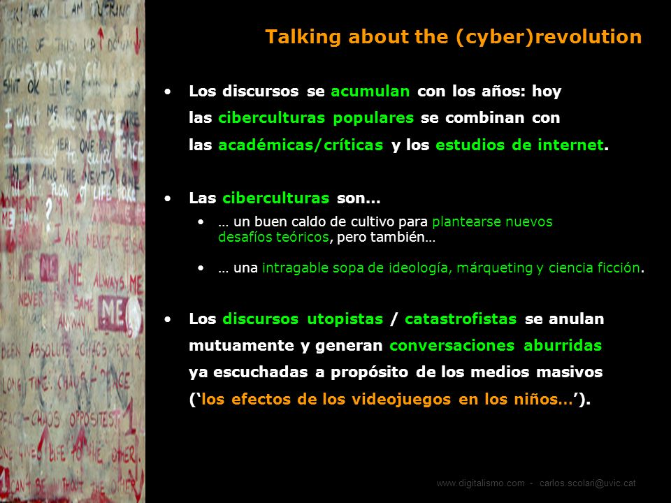 Talking about the (cyber)revolution