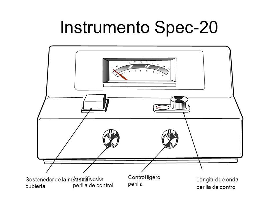 Instrumento Spec-20 Longitud de onda Control ligero Amplificador