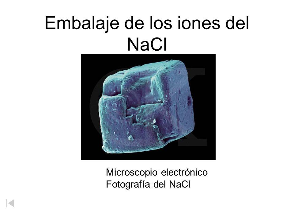 Embalaje de los iones del NaCl