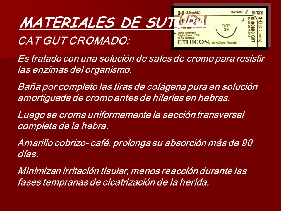 MATERIALES DE SUTURA CAT GUT CROMADO: