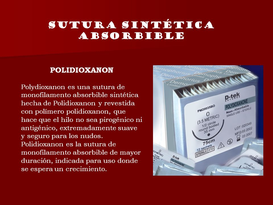 Sutura sintética absorbible