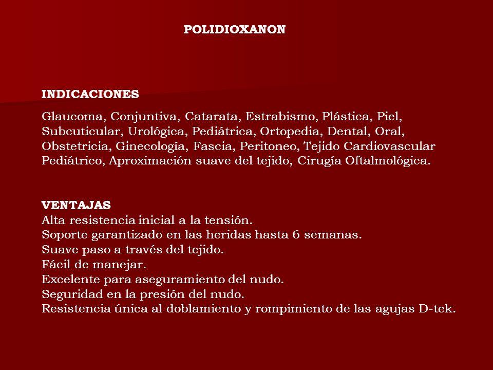 POLIDIOXANONINDICACIONES.