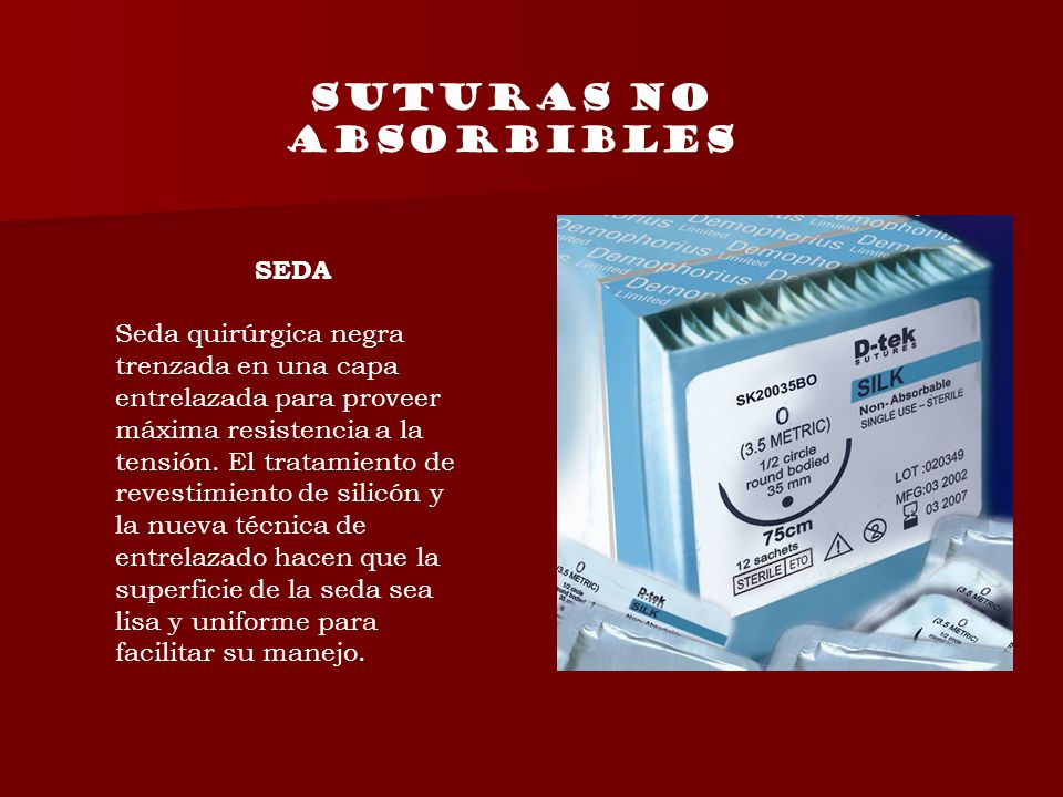 Suturas no absorbibles